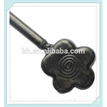 Flower Black Brushed Metal Kids Curtain Rod Finial
