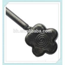 Цветочный черный матовый металлический детский карниз Finial