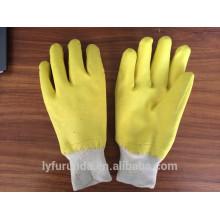 Interlock tecido de algodão ou jersery revestido nitrilo totalmente revestido com pulso de malha