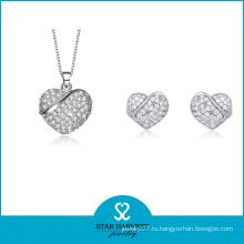 Micro стерлингового серебра 925 Вымощает ювелирные изделия кольца и подвески (к-0012)