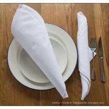 DPF 100% coton blanc serviette de restaurant