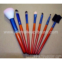 7pcs Shiny Color Makeup Brush Set With Clear Pouch