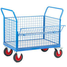 Deflect Heavy-Duty Platform Carts, Trolley Hand Truck, Heavy Duty Platform Trolley with Pneumatic wheels (500kg)