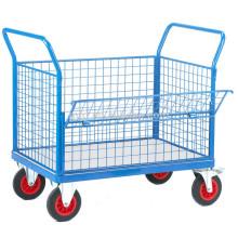 Отклоните платформенные тележки для тяжеловесных нагрузок, тележки с ручным тележкой, тележки с платформой для тяжелых условий работы с пневматическими колесами (500 кг)
