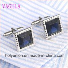 VAGULA Gemelos Homens Camisa Francesa Ligações De Punho De Diamante 339