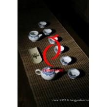 Porcelaine bleue et blanche Peint à la main Céramique Ensemble de thé au style Moyen-Orient pour la vente à chaud