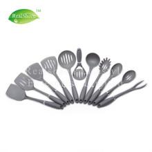 Soft TPR Handle Grey Nylon Kitchen Tools Set