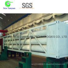 High-Pressure H2 He Jumbo Tube Skid Container Semi-remorque