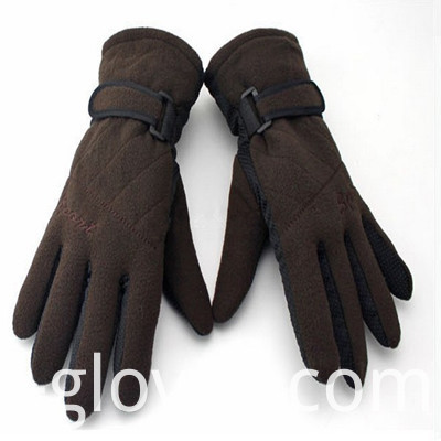 Polar Fleece Gloves dark coffee