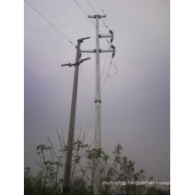 2016 Galvanized Electricity Transmission Steel Pole
