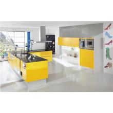 Высокоглянцевый модный кухонный шкаф МДФ