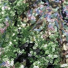 Блестящая сетка из полиэстера с металлической вышивкой и мелкими пайетками толщиной 3 мм