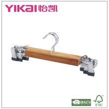 Ensemble de crochet de jupe en bambou plat 3pcs avec clips en métal