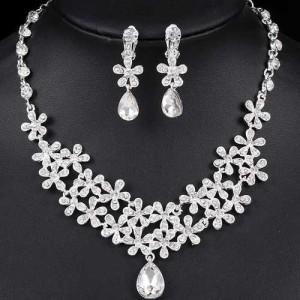 Unique Wedding Necklace Earrings Set
