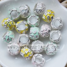 11MM Charming Color Oil Driping Metal Beads With 6MM Big Hole