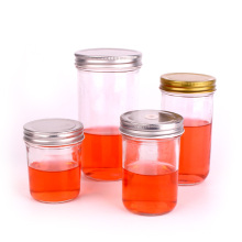 OEM ODM good selling Glass Container jar with Metal Lid for honey