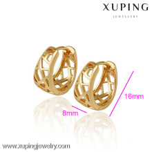(29788) Xuping Jewelry Fashion or 18 carats plaqué or boucle d'oreille pour femme