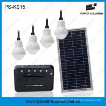 Солнечное освещение дома системы освещения до 4 номеров 6 часов с 5200mAh литиевая батарея