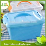 Hot sale Colorful 3 piece food Plastic storage box / toy storage box with handle