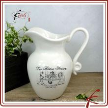 Articles de ménage Gros porcelaine en céramique Pichet à eau Pichet en étain