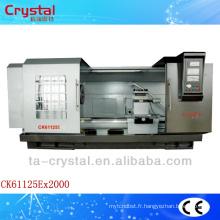 Machine résistante de pièces de rotation de tour de commande numérique par ordinateur de précision CK61125E