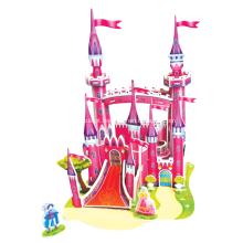 Quebra-cabeça 3D rosa castelo