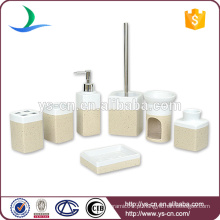 Elegante design presentes de casamento cerâmica 7PCS acessórios de banho atacado