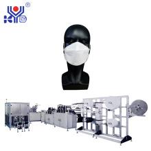 Máquina automática de máscara de pescado 1 + 1 con línea de embalaje