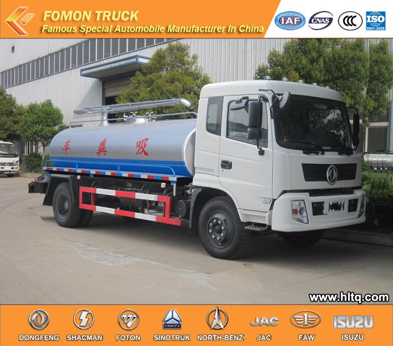 fecal vacuum tank truck