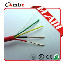 Hecho en China cable de cobre desnudo de la alarma de incendio de FPL FPLR del rojo de 1000ft 6 núcleos