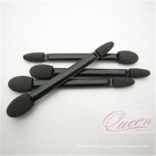 Accessoires de beauté Brosse à maquillage Latex Sponge Brosse à paupières à double extrémité