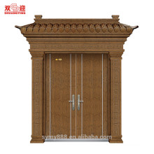 Decorative door natural steel column door