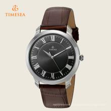 Casual Mens Quartz Relógio com pulseira de couro 72278