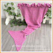 Wholesales Beautiful Acrylic Blanket Mermaid Tail for Adult