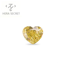 ForeverFlame fancy yellow 2.5ct 8.7mm*7.2mm vvs Heart Cut diamond CVD CZ Moissanite 18k platinum jewelry fashion ring