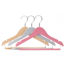 bespoke luxury wooden baby clothing hanger for shop display