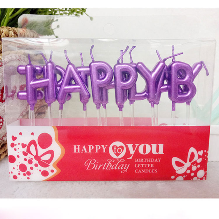 Happy Letter Birthday Candles
