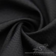 Water & Wind-Resistant Ropa de deporte al aire libre Down Jacket Tejido Jacquard onda 100% poliéster Pongee tela (E049)