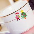 Projete o vinil da etiqueta da decoração do Natal dos desenhos animados de Kawaii do feriado do projeto
