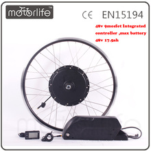 MOTORLIFE / OEM marca 2015 VENTA CALIENTE CE pase 48v 2000w kit de bicicleta eléctrica