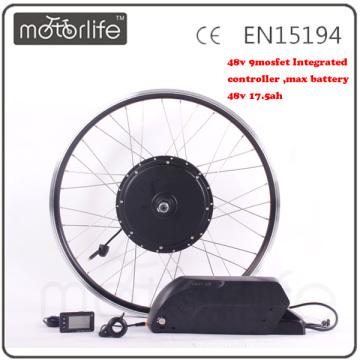 MOTORLIFE / OEM marque 2015 VENTE CHAUDE CE passer 48 V 1000 w tricycle kit de conversion, batterie 48 v 17.5ah max