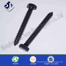 Black Zinc Hex Wood Screw