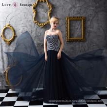 XXLF146 laço com blusa bordada bordada com lantejoulas e pérolas mais recente design vestido de noite formal com contas