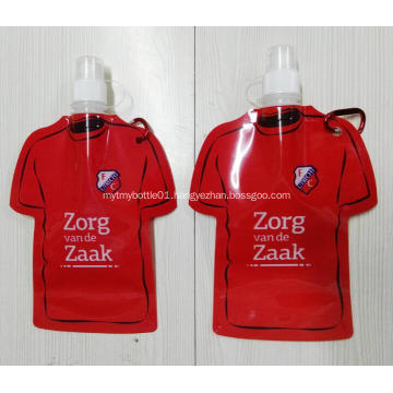 Promotional Foldable Water Bottle with Carabiner