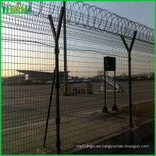 PVC revestido soldado malla aeropuerto cerca (eslabones de eslabones de la cadena)