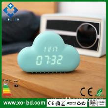 2015 Original Cloud Digital LED Alarm Clock with Shake Voice Sensor Clock