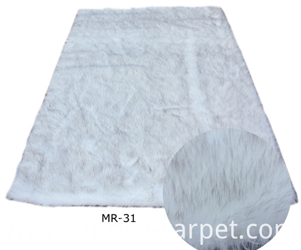 Plush Fur Carpet White color