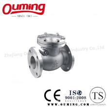 Válvula de retención con bridas de acero inoxidable estándar JIS