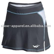 Schweißableitende graue Farbe Tennis Röcke Oeko-Tex 100 & 200