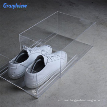 wholesale transparent color acrylic display shoe box for High - end brand